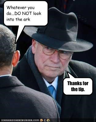barack obama,democrats,Dick Cheney,Indiana Jones,president,Republicans,vice president
