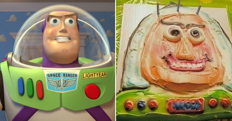 funny fail cakes - Buzz Lightyear NAILED IT fail cake