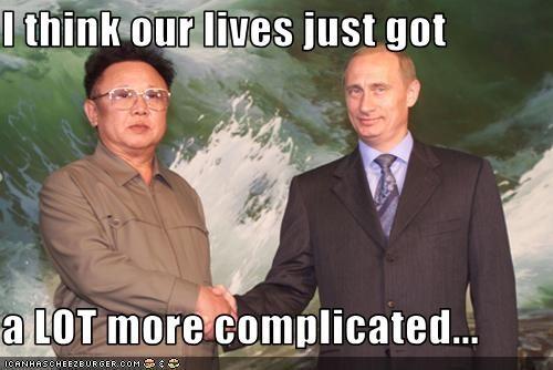 Kim Jong-II North Korea president prime minister russia Vladimir Putin - 2013733632