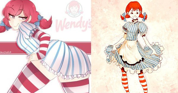 High quality fan art inspired by fast food chain Wendy's with tons of their best twitter insults.