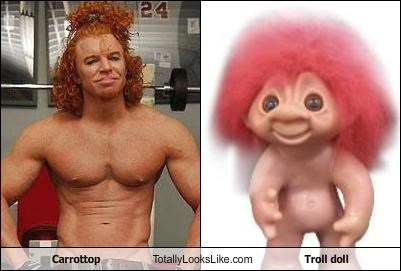 carrot top,comedian,Troll Doll
