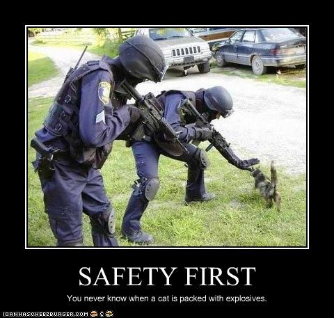 Safety First Cheezburger Funny Memes Funny Pictures