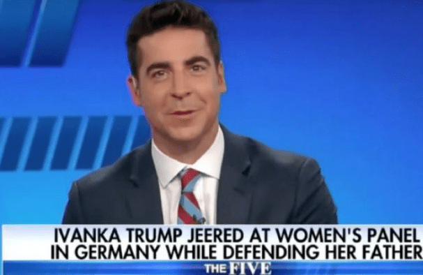 Fox News' Jesse Watters is getting torn apart for perceived sex joke about Ivanka Trump.