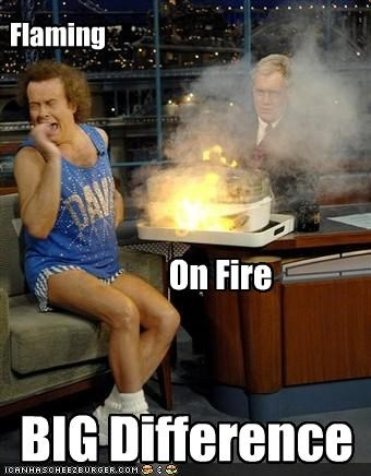 David Letterman,flaming,richard simmons,talk shows,the ghey