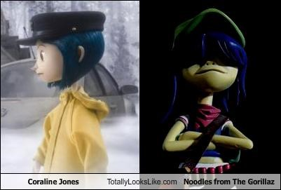 Coraline Jones Totally Looks Like Noodles from The Gorillaz