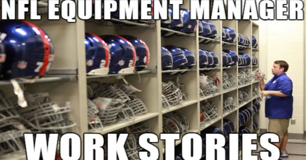 Former NFL equipment manager shares interesting series of work stories from his time on the job.