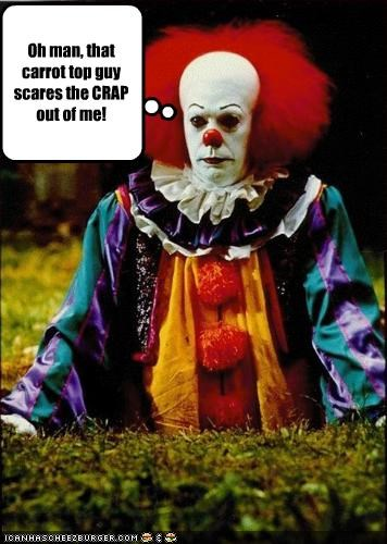 carrot top,clowns,it,pennywise the clown,scary,stephen king,tim curry