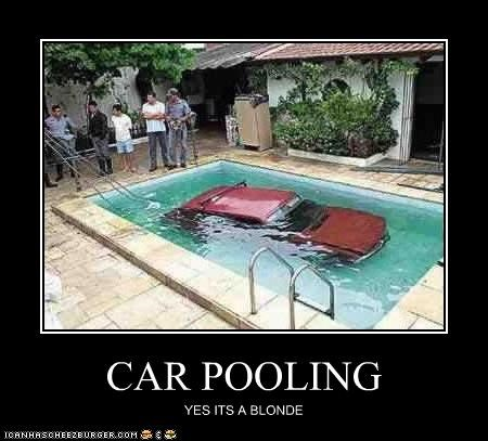 CAR POOLING YES ITS A BLONDE