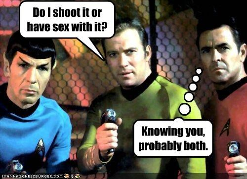 guns james doohan Leonard Nimoy sci fi sex shoot Star Trek TV William Shatner - 2051336448