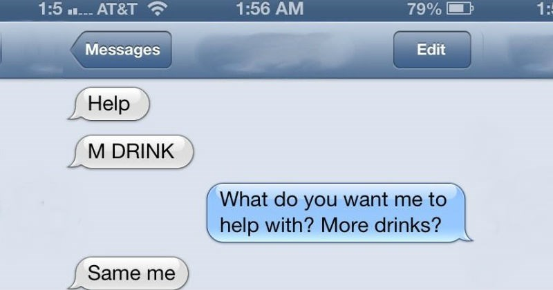 Drunken text screen shots