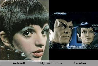 dancers,Liza Minnelli,romulans,singers,Star Trek
