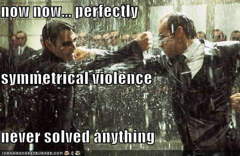 fighting Hugo Weaving keanu reeves martial arts the matrix violence - 2062766848