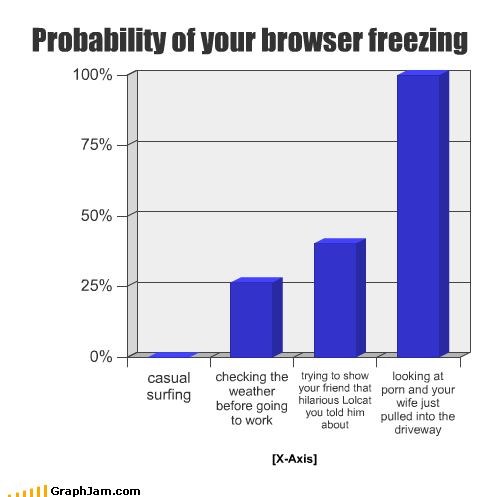 browser computer freezing friend internet lolcats porn surfing weather wife work