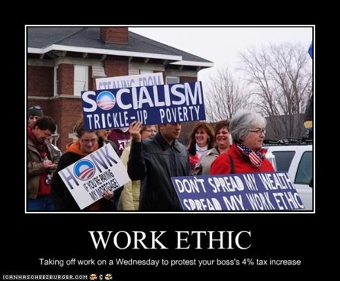 ethics protesters Tax Day taxes teabaggers work - 2064037632