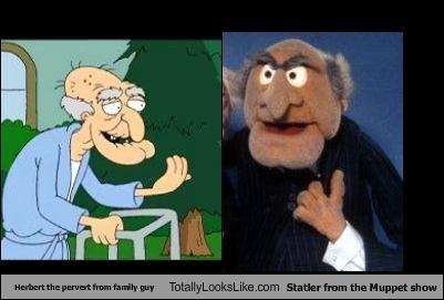 Herbert The Pervert From Family Guy Totally Looks Like Statler From