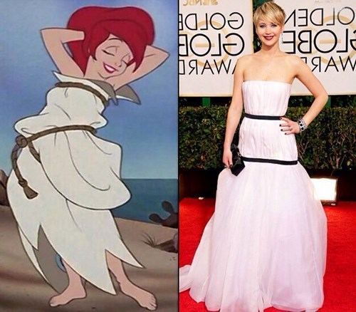 disney,J-law,jennifer lawrence,cartoons,celeb,princesses