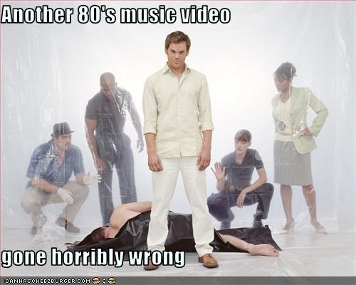 80s,Dexter,michael c hall,mtv,music video,showtime