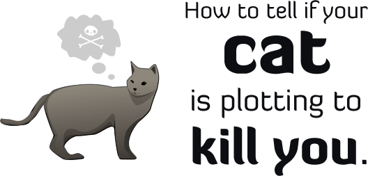 funny animation of signs that your cat is plotting to kill you