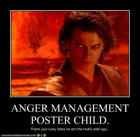 ANGER MANAGEMENT POSTER CHILD. Thank your lucky Stars he isn't the Hulk's alter ego...