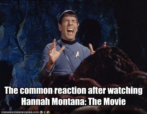 hannah montana horror Leonard Nimoy miley cyrus sci fi Spock Star Trek - 2073938176