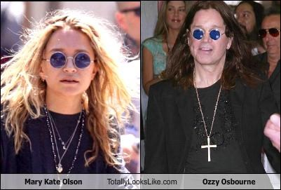Mary Kate Olson Totally Looks Like Ozzy Osbourne