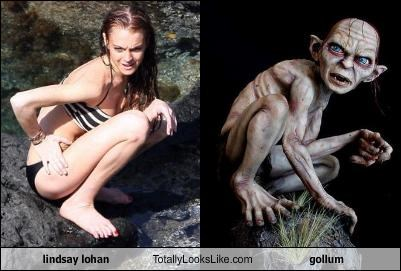 actor,gollum,jrr-tolkein,lindsay lohan,Lord of the Rings,movies