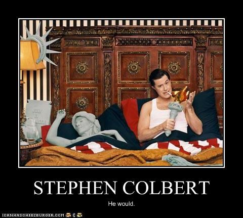 comedians,Media,sex,Statue of Liberty,stephen colbert