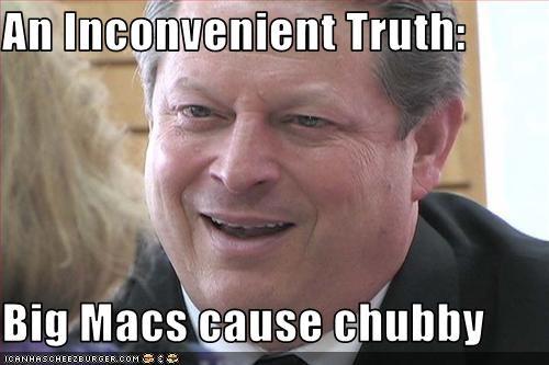 Al Gore democrats fat McDonald's obese vice president - 2082282240