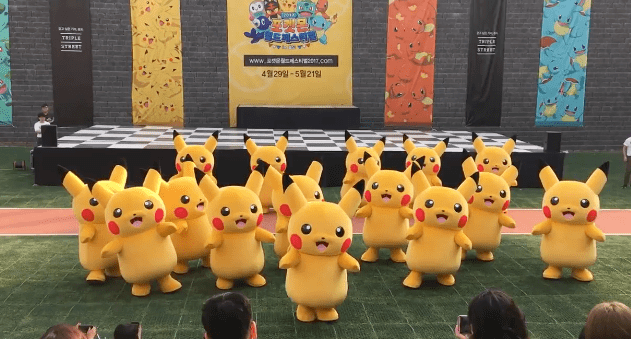 Sad Pikachu's costume deflates in the middle of dance performance.