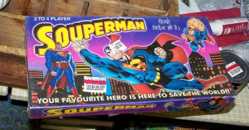 funny fail of superman spelled souperman