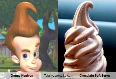 Jimmy Neutron Totally Looks Like Chocolate Soft Serve