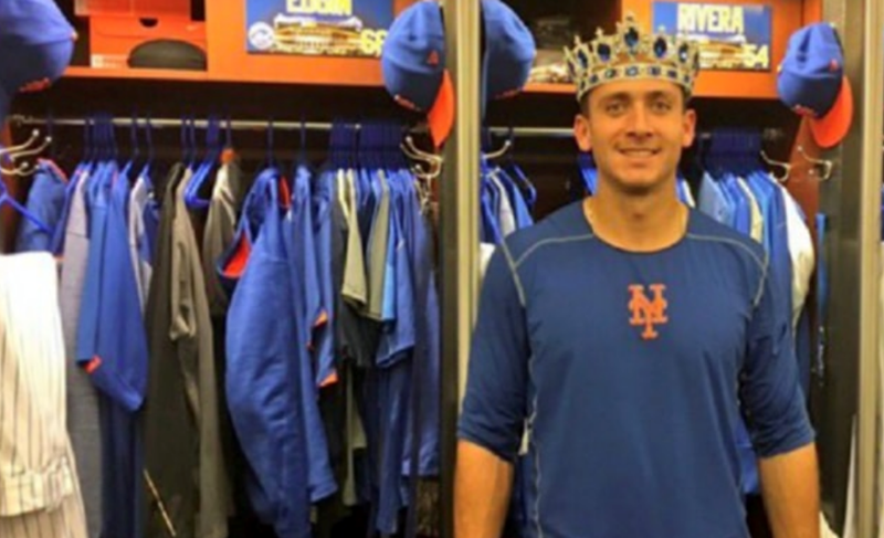 NY Mets baseball team accidentally tweets out pic of giant dildo in locker room.