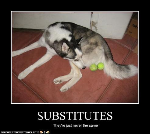 SUBSTITUTES They're just never the same