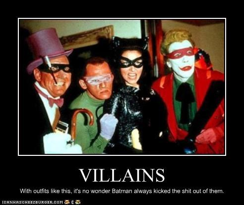 batman,catwoman,classic tv,the joker,The Penguin,the riddler,TV,villains