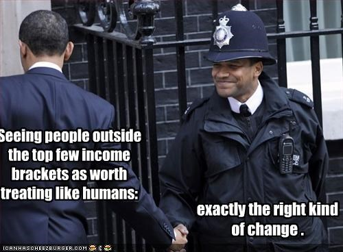barack obama,decency,democrats,humans,police,president,UK