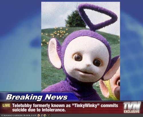 Breaking News Teletubby Formerly Known As Tinkywinky Commits
