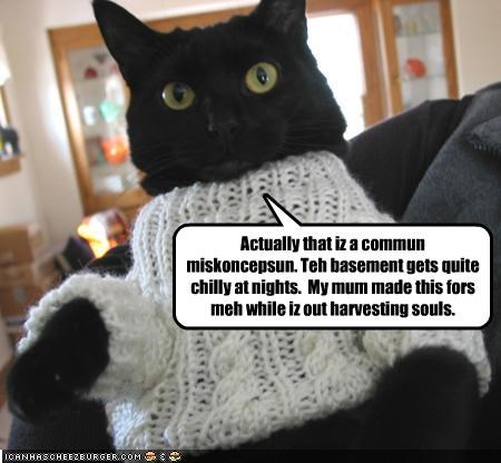 basement cat costume sweater - 2115141376