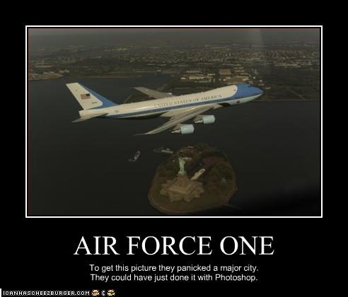 air force one,new york,panic,photoshop,president,White house