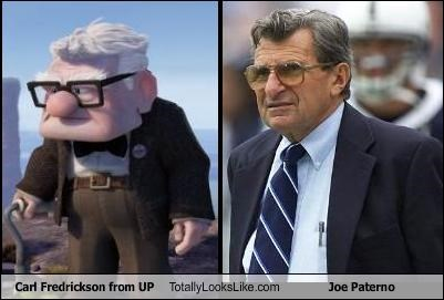 Carl Fredrickson coach disney football Joe Paterno movies pixar up