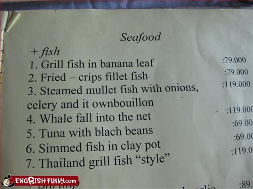 banana fish g rated menu restaurant whale