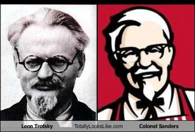 colonel sanders,communism,fast food,foor,glasses,goatee,Leon Trotsky