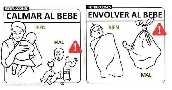instrucciones nuevos padres