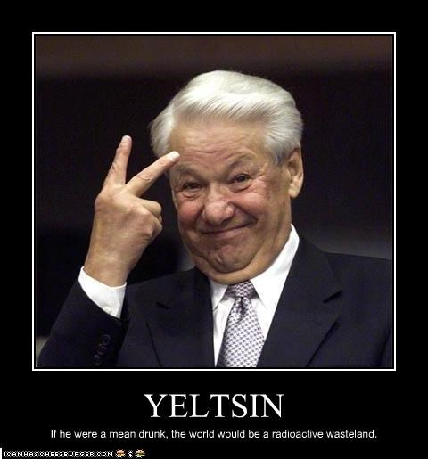Boris Yeltsin drunk nuclear weapons president radioactive russia - 2134380288