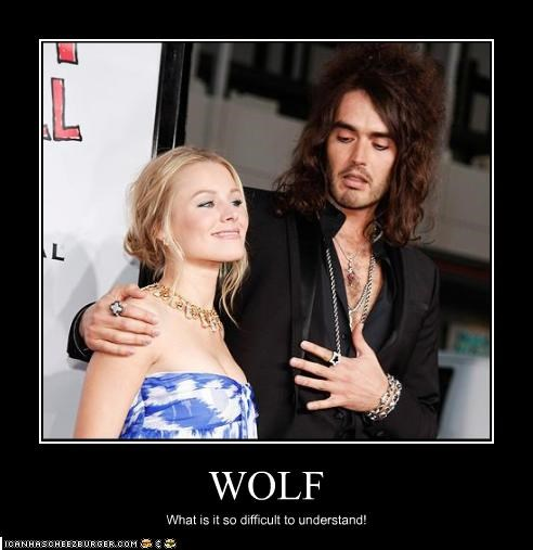 WOLF What is it so difficult to understand!