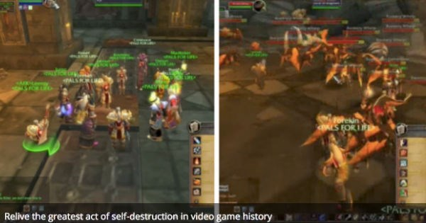 Video of Leeroy Jenkins moment in World of Warcraft to celebrate the epic fail's 12 year anniversary.