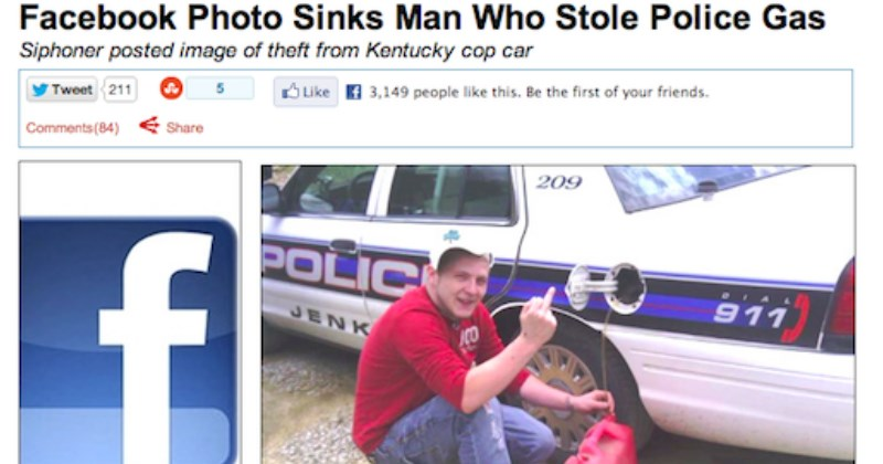 dumb criminals who posted their crimes to facebook