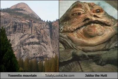 Yosemite Mountain Totally Looks Like Jabba The Hutt Cheezburger