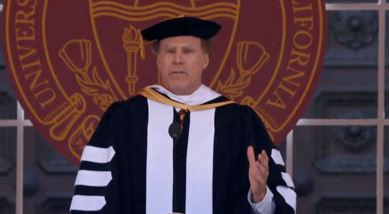 "Video of Will Ferrell singing ""I Will Always Love You"" at USC graduation is absolutely glorious."