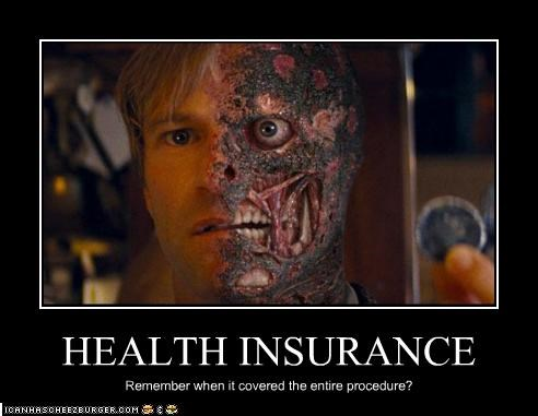 aaron eckhart,batman,health insurance,movies,the goddamn batman,two face