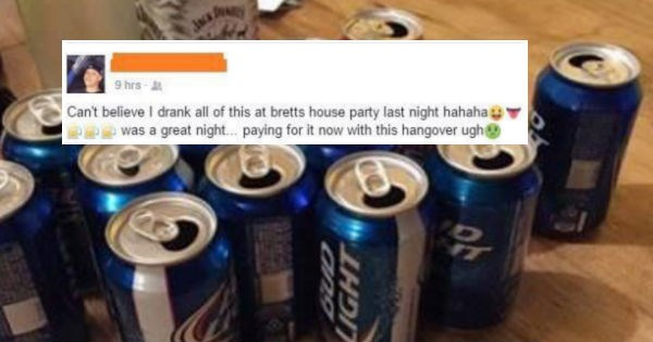 Idiot goes on rant about being a party animal and gets rightfully called out.